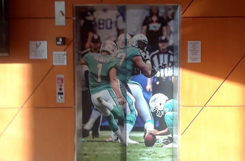 Darkhorse Elevator Wrap Miami Dolphins HARD ROCK STADIUM