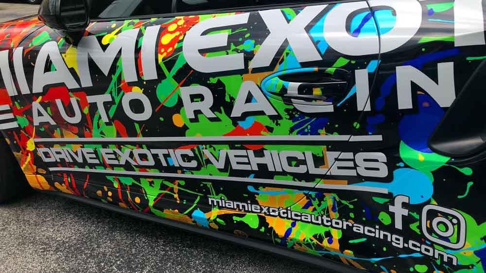 Darkhorse Miami Miami Exotic Auto Racing Paint Splatter Porsche 911