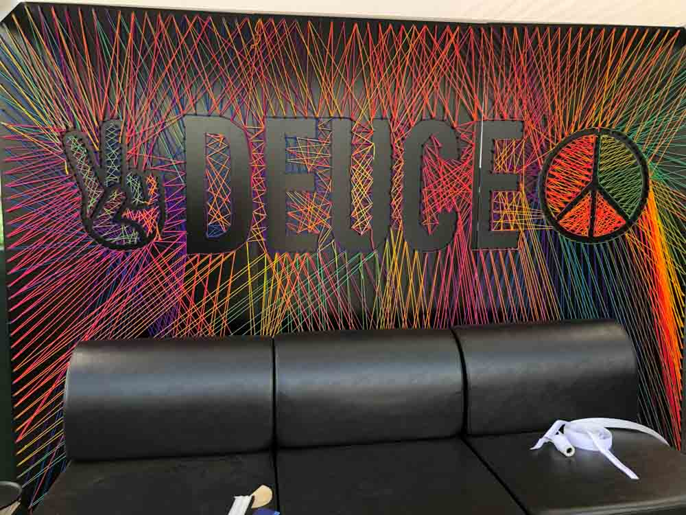 Darkhorse Miami Open Krelwear Knit Deuce Peace Rainbow Instagram Photoshoot Backdrop
