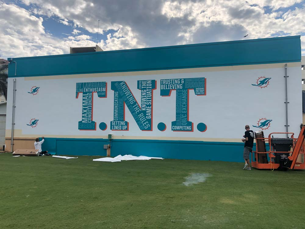 Darkhorse Miami Training Facility Miami Dolphins TNT Court Wall Graphics 2