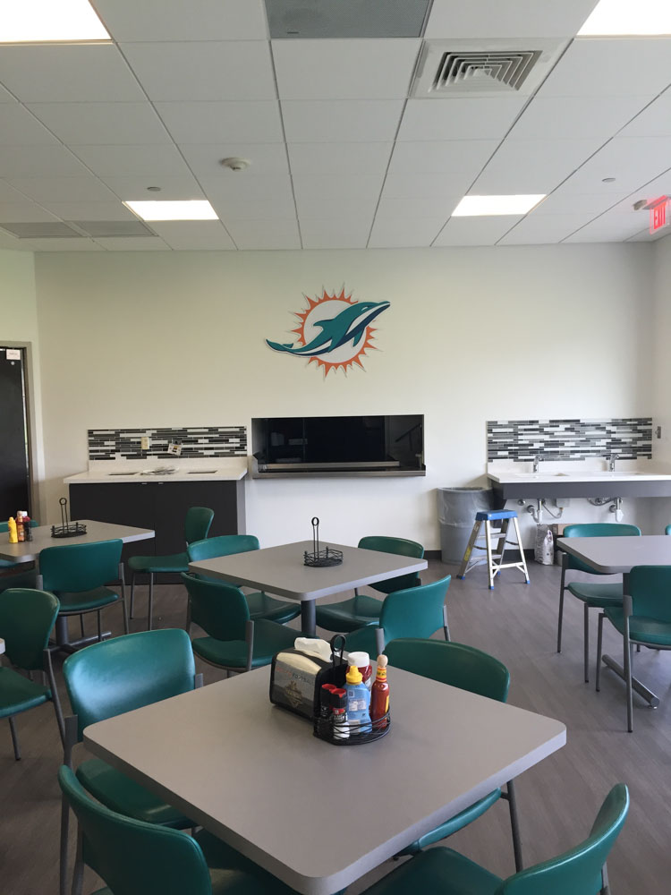 Darkhorse Miami Training Facility Miami Dolphins Concessions Room 1