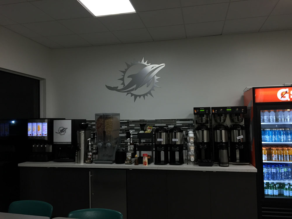 Darkhorse Miami Training Facility Miami Dolphins Logo Cutout