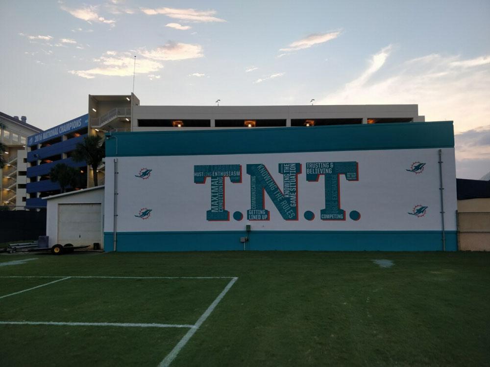 Darkhorse Miami Training Facility Miami Dolphins TNT Court Wall Graphics 3