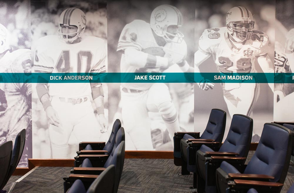 Darkhorse Miami Training Facility Miami Dolphins Wall Graphics Players